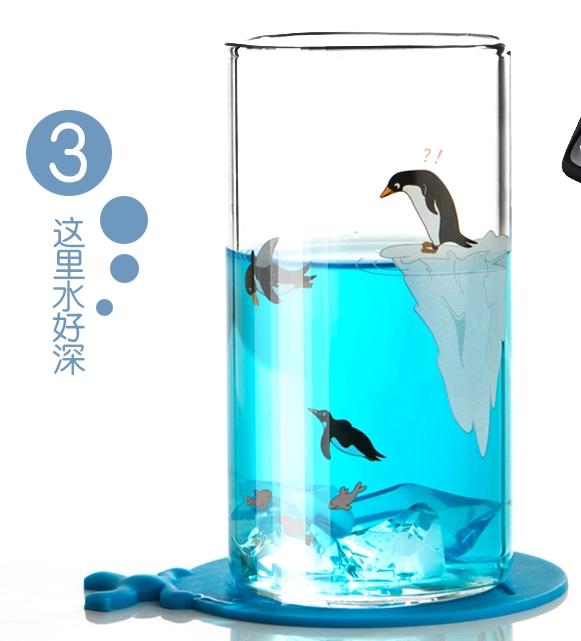 【送Ta】创意玻璃杯 喝水的美丽心情