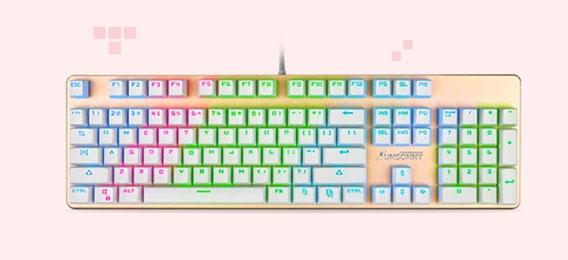 森松尼sunsonny帝王蝎V628 RGB版游戏机械键盘