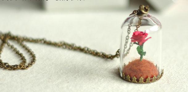 小王子的玫瑰花 小王子不凋谢的玫瑰花摆件 情人节送女友创意礼物