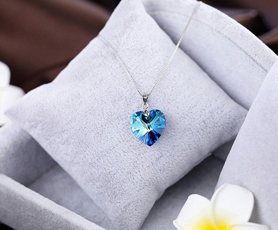施华洛世奇925纯银项链 送她海洋之心 俘获她的芳心