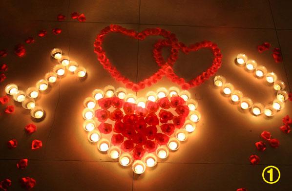 DIY蜡烛玫瑰 浪漫创意求婚