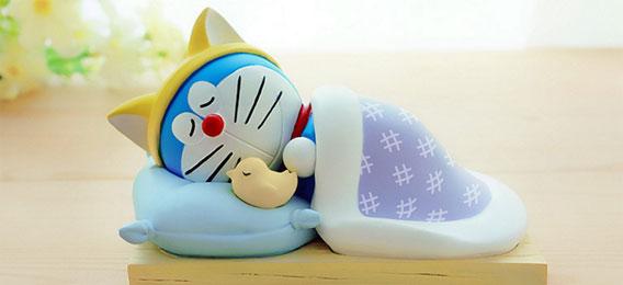 萌睡版哆啦A梦手机座 机器猫新日本诞生礼