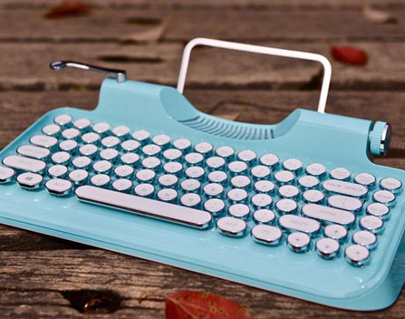 新晋网红无线蓝牙复古打字机 个性蓝牙键盘 创意礼物 第1张