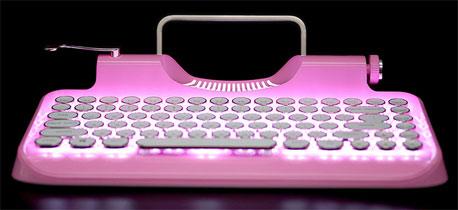新晋网红无线蓝牙复古打字机 个性蓝牙键盘