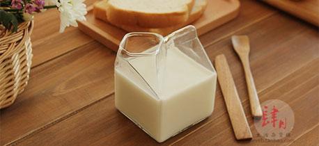 创意牛奶盒玻璃杯子 每个惬意美好的早餐时光