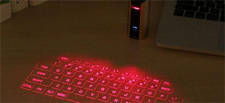 镭射无线投影虚拟键盘 会唱歌的投影键盘鼠标