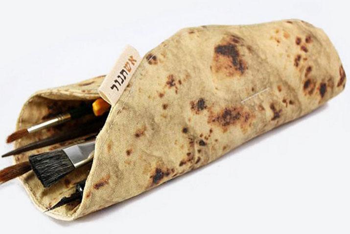 Asthtanur·网红卷饼烧饼笔袋 创意笔袋开学礼