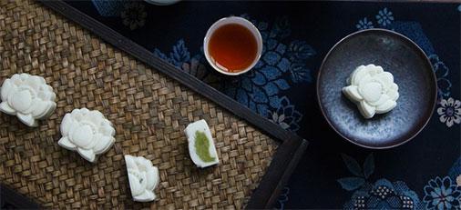 素直南宋雅月抹茶味传统冰糕 中秋除了送月饼还可以送的高颜值美味