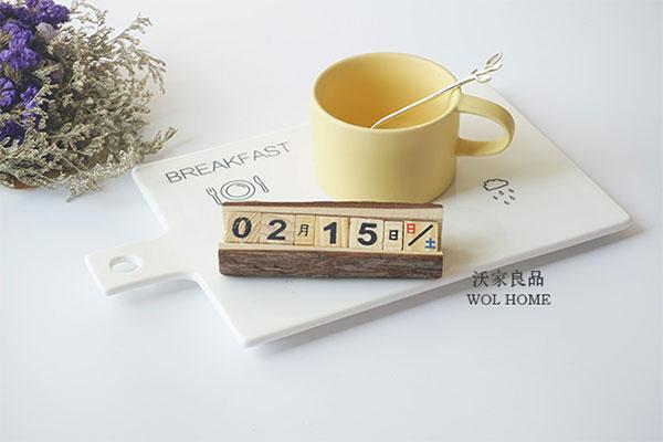 创意实木日历 实木手工拍摄摆件