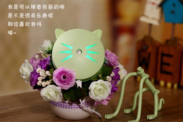 卡通可爱猫咪加湿器 丑萌丑萌的创意空气加湿器
