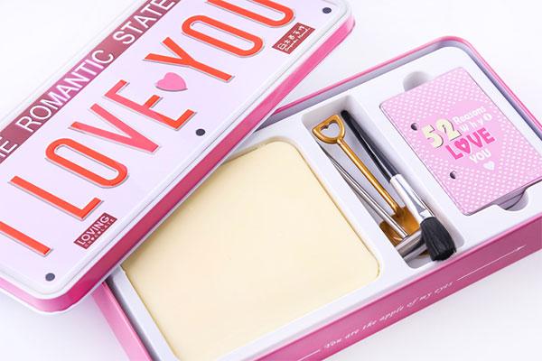 爱情密码巧克力礼盒 台湾手作情人表白礼物