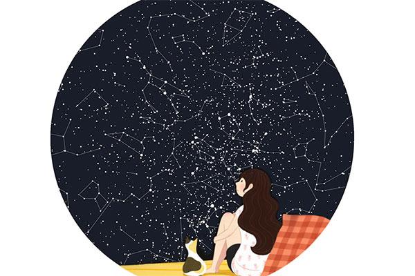 seegart定制星座星空图 创意情人节礼物