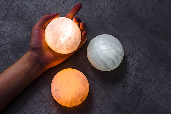 元渡团子灯月饼灯 创意矿石充电感应小夜灯