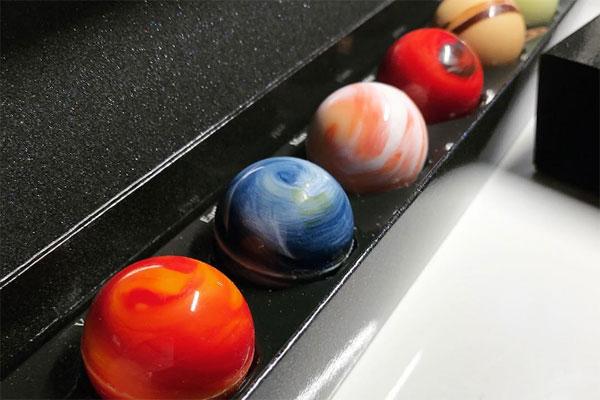 太阳系星球巧克力 来自日本大阪皇家Leclat的甜蜜礼物