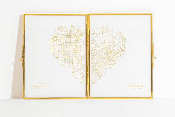 UMAP 定制地图画 异地恋情侣的浪漫创意礼物