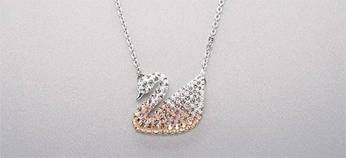 施华洛世奇渐变天鹅项链iconic swan 送女朋友闺蜜的生日礼物