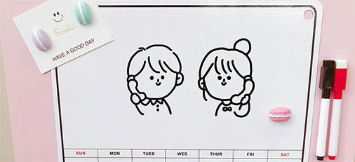 爱的生活调 ins韩国简约日历留言板